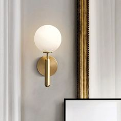 Wall Mounted Lamps, Wall Lamps, Wall Sconces, Wall Mount Light Fixture, Brass Light Fixtures, Brass Bathroom Fixtures, Lampe Applique, Color Cobre, Ball Lights
