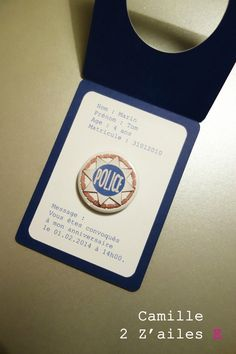 Police badge invitation