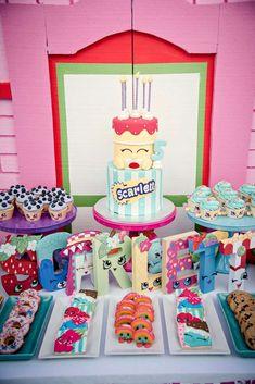 Loving the birthday cake at this Shopkins birthday party! See more party ideas . Loving the birthday cake at this Shopkins birthday party! See more party ideas … Loving the bir Girls Birthday Party Themes, Girl Birthday, Birthday Parties, Birthday Cake, Bridal Shower Cakes, Baby Shower Cakes, Shopkins Cake, Angel Cake, Rustic Cake