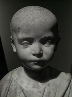 Detail, Roman marble bust of a small girl, 150CE. Cleveland Museum of Art