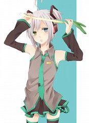 Utatane Piko dressed as Miku. Vocaloid Piko, Vocaloid Mayu, Vocaloid Funny, Manga Boy, Manga Anime, Anime Art, Vocaloid Characters, Mikuo, Kawaii