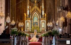 A Classic Romantic Blush and Gray Church Wedding Church Wedding, Wedding Blog, Blush And Grey, Brighten Your Day, Happy Weekend, Philippines, Color Schemes, Romantic, San