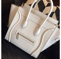 I love this designer! Hopefully one day I'll own one of these beauties!! white celine