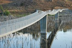 worlds longest stress ribbon bridge. safdie rabines architects.