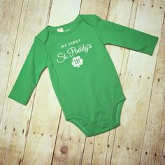 The perfect outfit for your wee little lad or lassie on his or her first St. St Patricks Day Drinks, St Paddys Day, Baby Kids Clothes, Carters Baby, Holiday Fashion, Baby Bodysuit, Me Too Shoes, New Baby Products, Kids Outfits