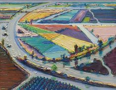 View River bend farms by Wayne Thiebaud on artnet. Browse upcoming and past auction lots by Wayne Thiebaud. Farm Paintings, Paintings I Love, Abstract Landscape, Landscape Paintings, Wayne Thiebaud Paintings, Pop Art Movement, Famous Artists, American Artists, American Realism
