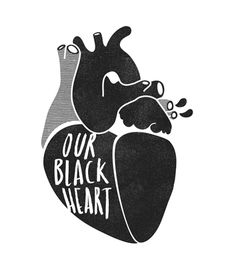 Our Black Heart / Sarah Chiarot Anatomical Heart, Heart Images, Taste The Rainbow, Human Heart, Lonely Heart, Anatomy Art, Aesthetic Colors, Sacred Heart, Black Heart