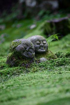Jizo statues at Oohara Sanzen-in, Oohara, Kyoto, Japan