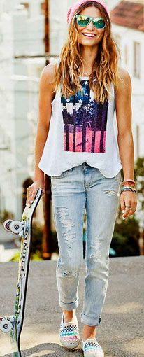 Click Pic for 35 Cute Spring Outfits - Skinny Jeans Skater Girl - Spring Outfits for Teen Girls