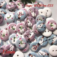 Find More Buttons Information about Christmas Buttons Random Mixed snowman pattern wood buttons painting sewing buttons scrapbooking craft  decoration,High Quality Buttons from Niucky Diy store(Buttons) on Aliexpress.com