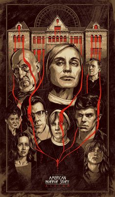 American Horror Story: Asylum   Cool art, love how the blood drips over the eyes of the most evil characters...hint hint