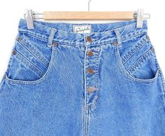 Vintage 80s High Waisted Button Fly Tapered Women's Jeans - Size 8 9 - Stone Washed Baggy Mom Jeans - 28.5 Waist