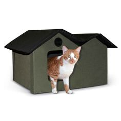 Unheated Outdoor Kitty House Extra Wide ** Discover this special cat product, click the image : Cat tower