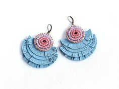 Leather Fringes Earrings Light Blue Suede Ombre Leather Fringe Earrings, Crochet Earrings, Leather Fringe, Fringes, Blue Suede, Leather Jewelry, Light Blue, Trending Outfits, Unique Jewelry