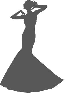 instant download wedding dress clipart silhouette clipart for rh pinterest com dress clipart free dress clipart images black and white