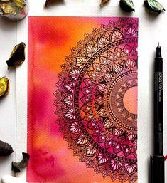 tattoo - mandala - art - design - line - henna - hand - back - sketch - doodle - girl - tat - tats - ink - inked - buddha - spirit - rose - symetric - etnic - inspired - design - sketch Mandala Art Therapy, Mandala Art Lesson, Mandala Artwork, Mandala Painting, Madhubani Painting, Easy Mandala Drawing, Doodle Art Drawing, Cool Art Drawings, Zen Doodle