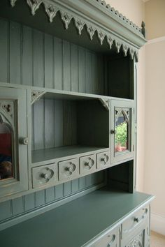 Dresser hand painted and distressed in Oval Room Blue....
