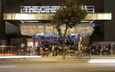 The Cineroleum was a self-initiated project that transformed a derelict petrol station on Clerkenwell Road into a hand-built cinema. Mini Clubman, Temporary Architecture, Interior Architecture, Theatre Architecture, Turner Prize, Temporary Structures, Morphe, Pavilion, Studio