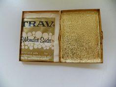 VTG TRAVELING SAMPLE WONDER SUDS DETERGENT GOLD LAUNDERETTE TIN CARRYING CASE #WonderSuds