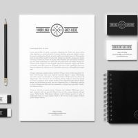 Download free high quality Psd Files, Elegant Stationary BW, no waiting time required! Fast download.