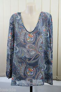 Plus Size 4XL 22 Ladies Paisley Sheer TOP Tunic Boho Chic Peasant Gypsy Design | eBay