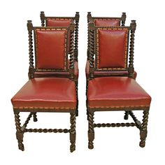 Set of 4 (four) American Renaissance Revival Dining Chairs