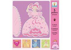 setje met 5 prachtige prinsessen sjablonen DJECO | kinderen-shop Kleine Zebra