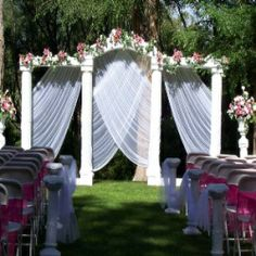 Wedding Garden Decorations Ideas, for if my kids ever get married.