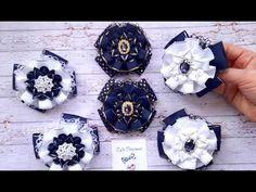 Kanzashi Flowers, Fabric Flowers, Pocket Watch, Ribbon Hair Ties, Diy Creative Ideas, Head Bands, Creativity, Vestidos, Hair Bows