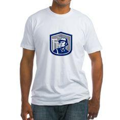 Power Lineman Repairman Shield Retro T-Shirt