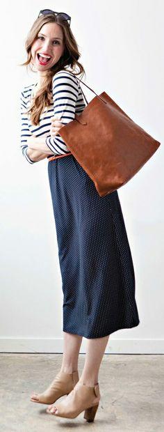 Stripes + dots dress / sonnet james