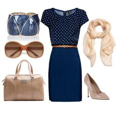 Blue Heart with Blue Skirt Attire and Accessories for Interview