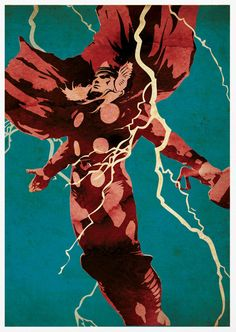 Thor Retro Pop Art A3 Poster Print by posterkingdom on Etsy, $18.00