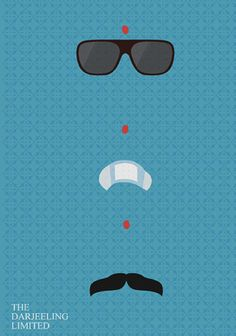 The Darjeeling Limited (2007) ~ Minimal Movie Poster by Kate Syska #amusementphile