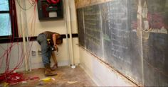 old classroom chalkboards uncover 100 year old drawings