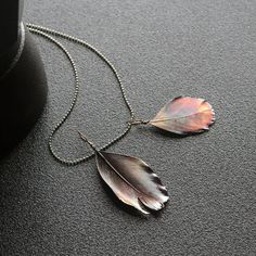 Bird Feather Necklace Feather jewelry gift by wirefoxjewellery
