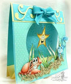 Gina K Designs  Under the Sea!! Tent card.