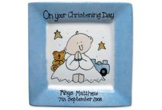 Personalised Christening Plate - Baby Boy