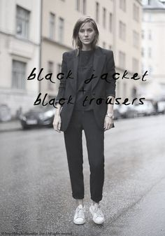 4 ways with a black suit | Bodie and Fou | Bloglovin'