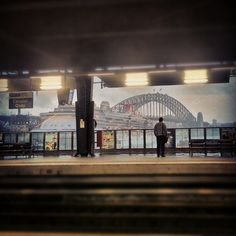 View from the platform at Circular Quay Railway Station - Sydney, New South Wales - Australia