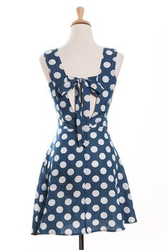 Delightful Dots Chambray Sundress