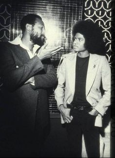 Marvin Gaye and Michael Jackson.  Musical genius.
