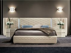 BED WITH UPHOLSTERED HEADBOARD CHANEL | BED | DALL'AGNESE