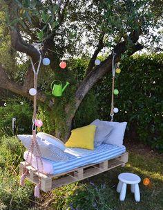 Hängebett Selber Bauen: 44 DIY Ideen Für Bett Aus Paletten Im Garten