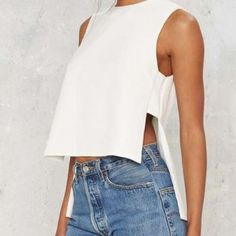 White Solid Women Tops Tees OL High Low Side Cut Out O-neck Sleeveless Pullovers Vests for Of. White Solid Women Tops Tees OL High Low Side Cut Out O-neck Sleeveless Pullovers Vests for Officelady T-shirts Diy Fashion, Fashion Outfits, Fashion Tips, Ladies Fashion, Fashion Online, Fashion Videos, Jeans Fashion, Fashion Websites, Classy Fashion