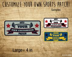 Personalized Weights Patches - Perfect for Gym Owners that are looking for a Custom Patch