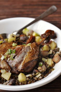 Classical Duck confit - a marvelous cold weather meal.