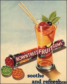 Rowntree's Fruit Gums vintage candy advertisement