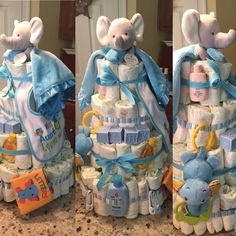 Elephant / baby / diaper cake / baby boy / baby shower