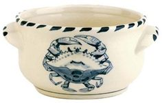 Blue Crab Bay - Set of 4 - 16 oz Stoneware Soup / Chowder Bowls Designed By Artisan José Dovis by Blue Crab Bay. $63.99. Designed by an Eastern Shore artisan José Dovis. Microwave- and dishwasher-safe .. Lead-free and oven-safe to 400°F. Set of 4 - 16 oz soup / chili / chowder bowls. Blue Crab Stoneware by Dovis Designs is produced and hand-painted in Thailand exclusively for Blue Crab Bay Co. The stoneware is lead-free as well as microwave- and dishwasher-safe....